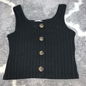 SHEIN: Girls Buttoned Front Rib-knit Tank top